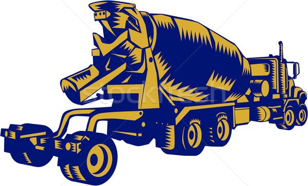 Cemento camión ilustración vehículo establecer Foto stock © patrimonio