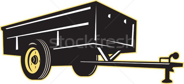 Carro jardim utilidade lado ilustração gramado Foto stock © patrimonio