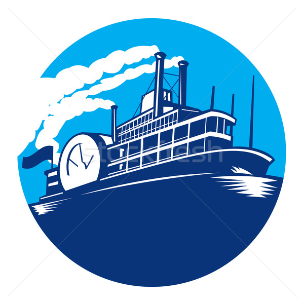 Steamboat Ferry Passenger Ship Retro Stock photo © patrimonio