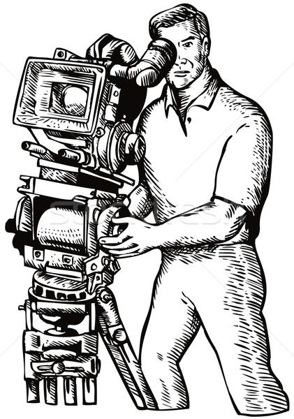 Filme diretor ilustração câmera de filme Foto stock © patrimonio