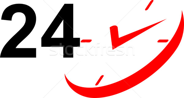 24 Hour Sign and Clock Stock photo © patrimonio