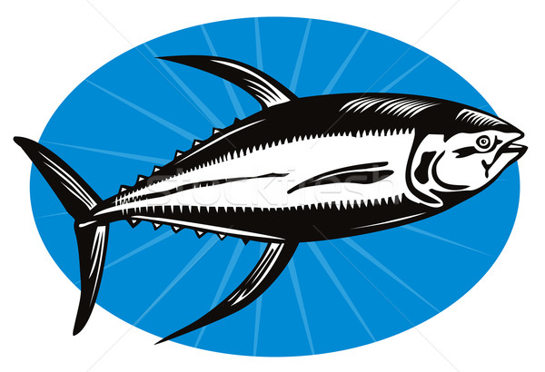 Yellow Fin Tuna Fish Retro Stock photo © patrimonio