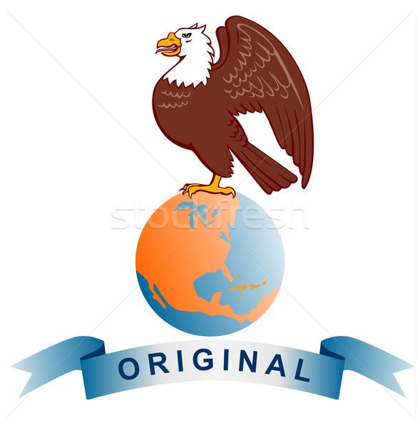 Eagle Globe Original Stock photo © patrimonio
