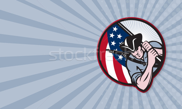 American Patriot Minuteman With Flag Stock photo © patrimonio