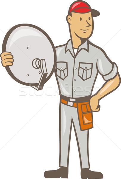 Cable TV Installer Guy Standing Stock photo © patrimonio