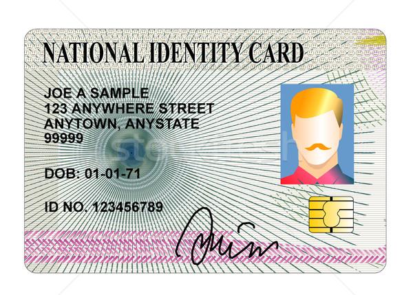 Kimlik kartı örnek yalıtılmış beyaz Stok fotoğraf © patrimonio