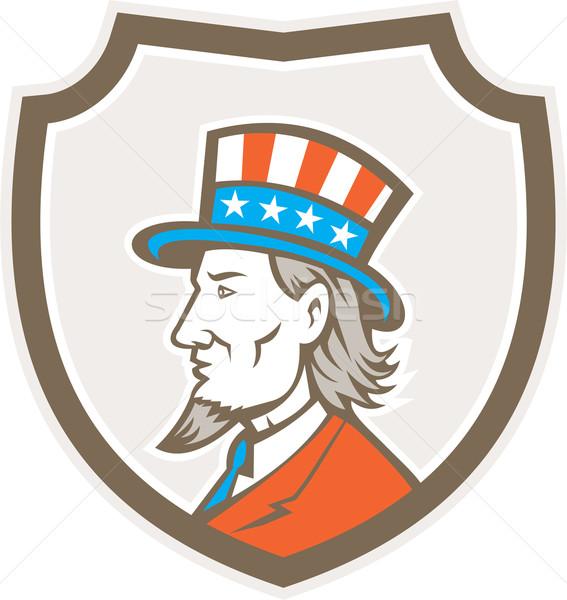 Nagybácsi amerikai oldal pajzs címer illusztráció Stock fotó © patrimonio