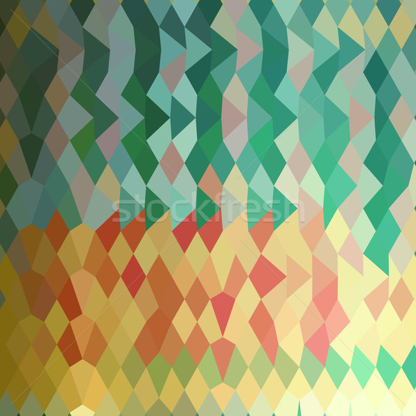 Emerald Green Harlequins Abstract Low Polygon Background Stock photo © patrimonio