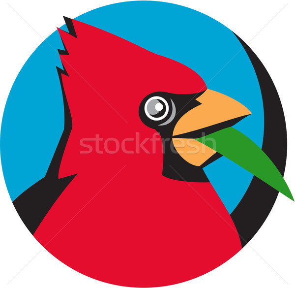 голову лезвия трава круга ретро иллюстрация Сток-фото © patrimonio