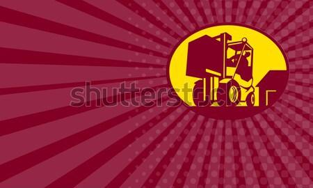 Filme retro ícone estilo retro ilustração vintage Foto stock © patrimonio