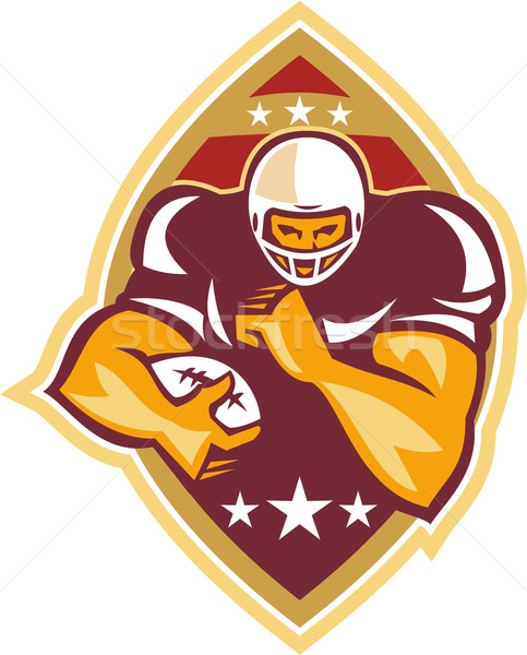 American Football Running Back Star Ball Stock photo © patrimonio