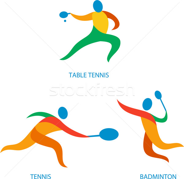 Table Tennis Badminton Icon Stock photo © patrimonio