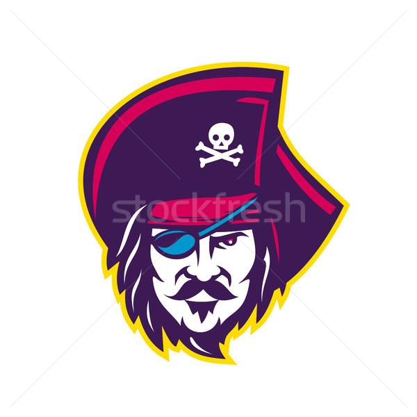 Privateer Pirate Head Mascot Stock photo © patrimonio