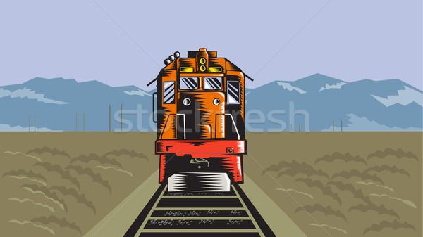 ディーゼル 列車 フロント リア レトロな 実例 ストックフォト © patrimonio
