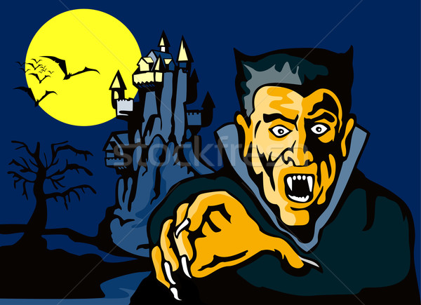 Dracula with Castle Stock photo © patrimonio