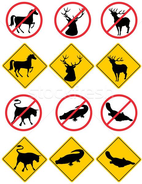 Yaban hayatı semboller işaretleri örnek uyarı yalıtılmış Stok fotoğraf © patrimonio