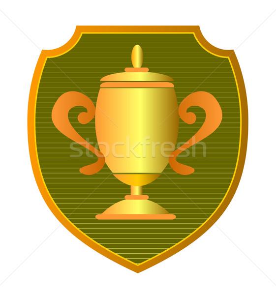 Kampioenschap beker schild illustratie trofee ingesteld Stockfoto © patrimonio