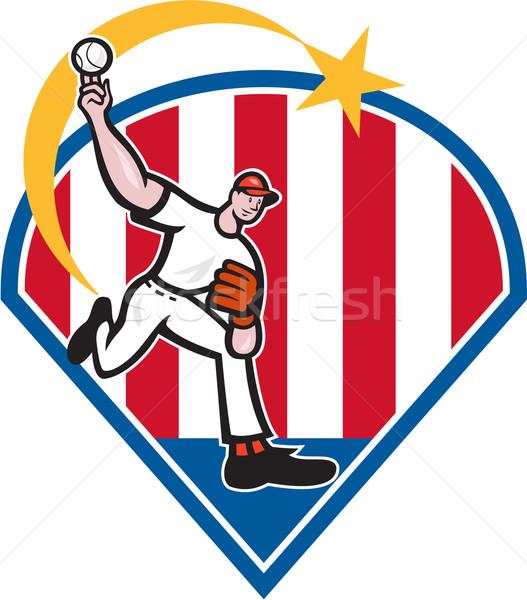 American Baseball Pitcher Star Stock photo © patrimonio