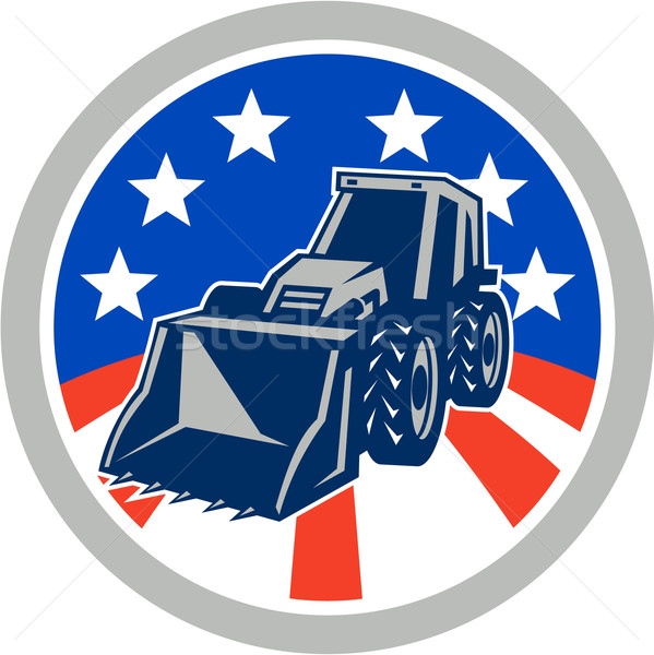 American Mechanical Digger Excavator Circle Stock photo © patrimonio
