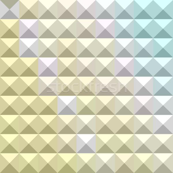 Light Khaki Yellow Abstract Low Polygon Background Stock photo © patrimonio