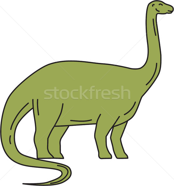 Brontosaurus Mono Line Stock photo © patrimonio