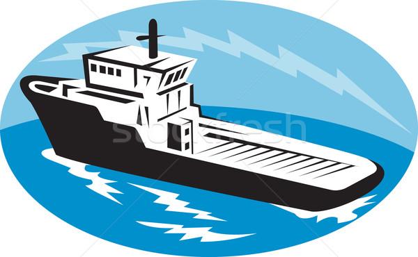 tug boat ship at sea Stock photo © patrimonio