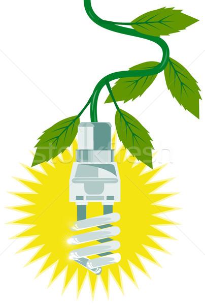 Lightbulb with Leaves  Stock photo © patrimonio