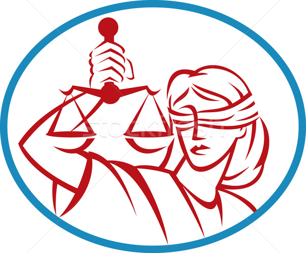Lady holding up scales of justice Stock photo © patrimonio