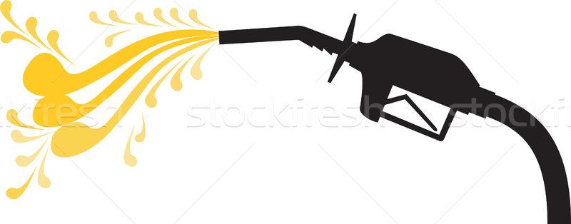 Benzinpumpa fúvóka oldal retro illusztráció benzin Stock fotó © patrimonio