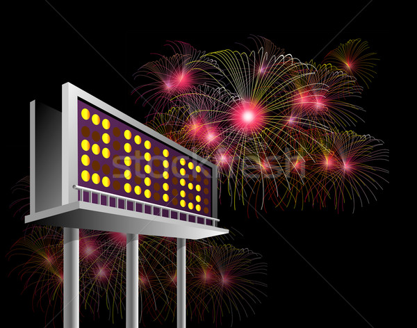 Billboard Advertising New year 2016 Stock photo © patrimonio