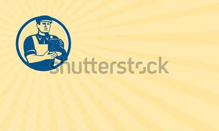 Technik pracownika schowek retro ilustracja handlowiec Zdjęcia stock © patrimonio