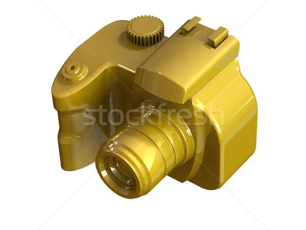 Gold DSLR camera isolated on white  Stock photo © patrimonio