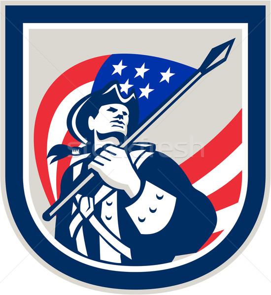 Amerykański patriota USA banderą sprawdzać Zdjęcia stock © patrimonio