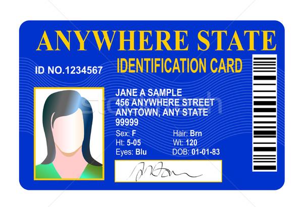 State id card Stock photo © patrimonio