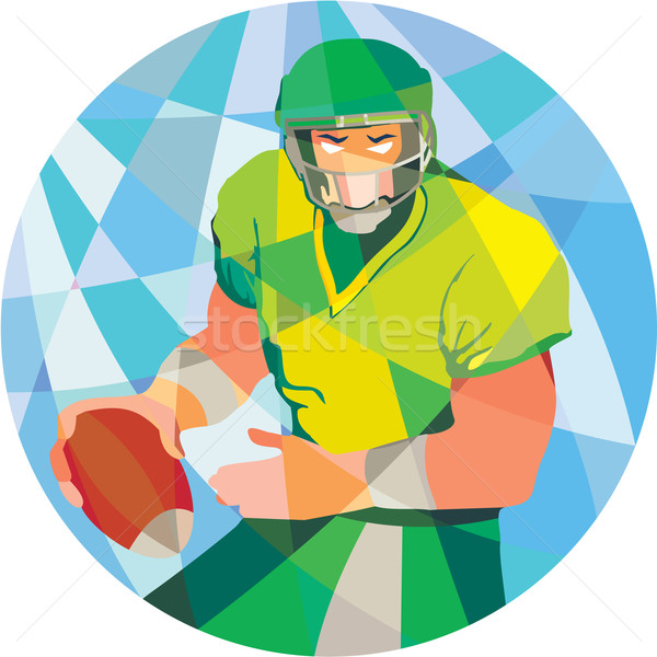 American Football Quarterback Passing Low Polygon Stock photo © patrimonio