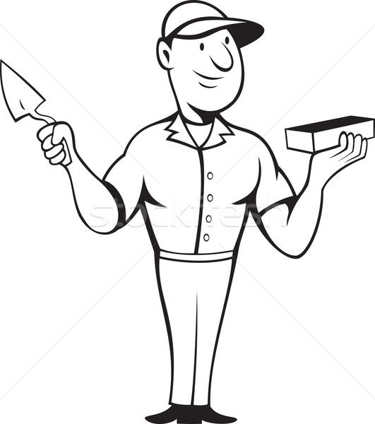 каменщик каменщик Постоянный иллюстрация работу Сток-фото © patrimonio