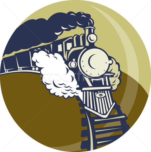 пар поезд локомотив вверх иллюстрация набор Сток-фото © patrimonio