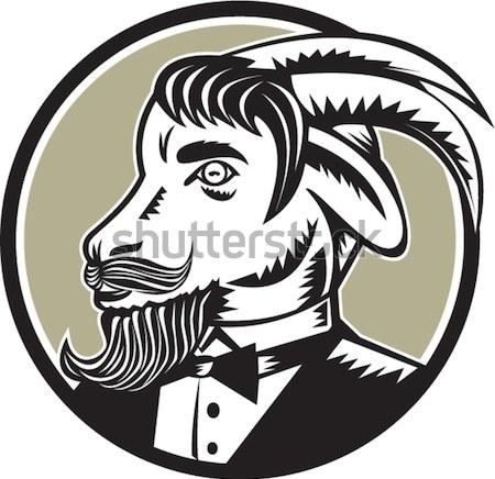 Hernan Cortes Conquistador Woodcut Stock photo © patrimonio