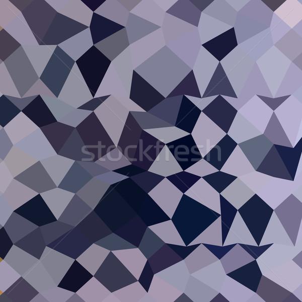 Licorice Black Abstract Low Polygon Background Stock photo © patrimonio