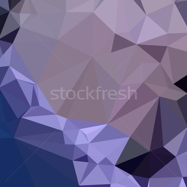 Oscuro púrpura resumen bajo polígono estilo Foto stock © patrimonio