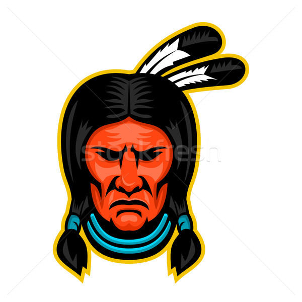 Sioux Chief Sports Mascot Stock photo © patrimonio