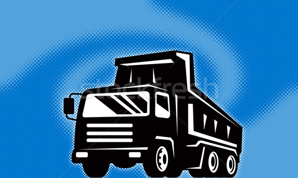 construction dump truck lorry Stock photo © patrimonio