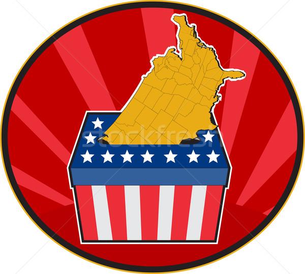 Amerikaanse verkiezing stemmen vak kaart USA Stockfoto © patrimonio