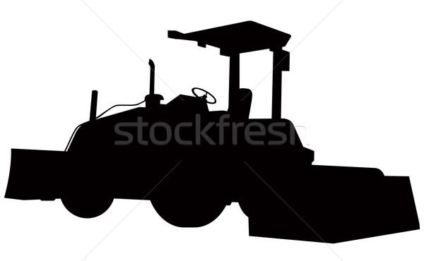 Buldózer sziluett illusztráció Stock fotó © patrimonio