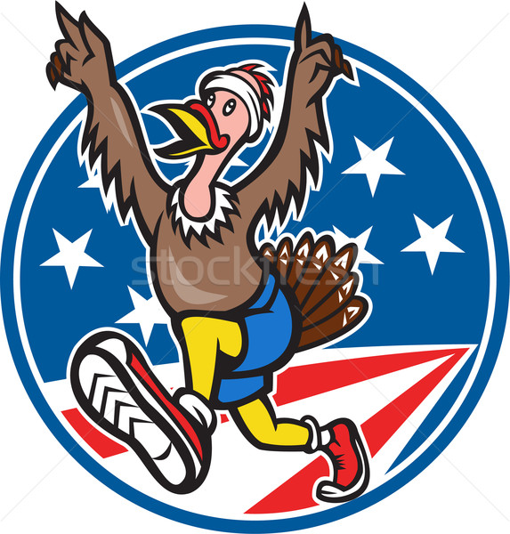 American Turkey Run Runner Cartoon Stock photo © patrimonio