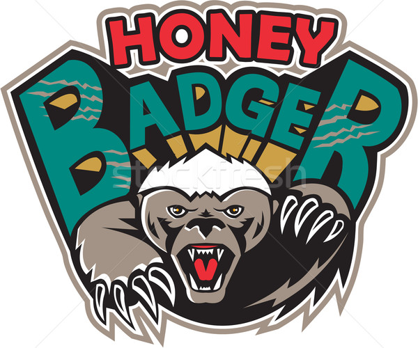 Honey Badger Mascot Front Stock photo © patrimonio