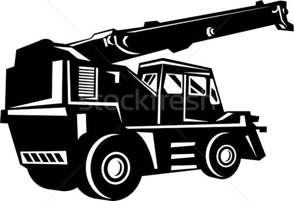Grezzo terreno gru lato bianco nero Foto d'archivio © patrimonio