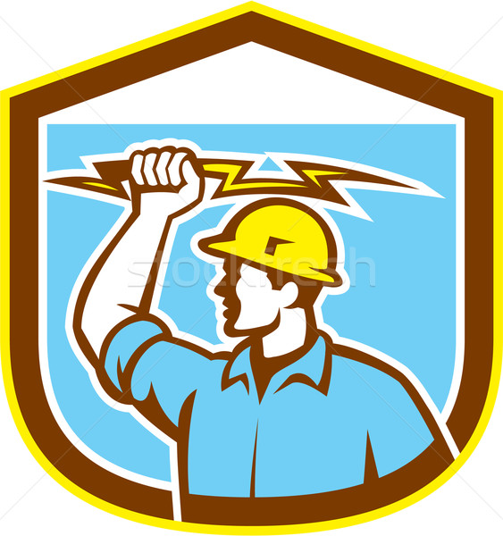 Elettricista lato scudo illustrazione Foto d'archivio © patrimonio