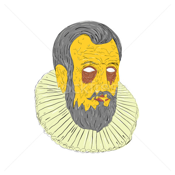 Mugre arte estilo ilustración cabeza Foto stock © patrimonio