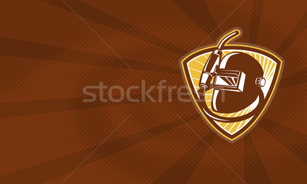Welder Visor And Welding Torch Retro Shield Stock photo © patrimonio